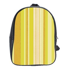 Stripes In Yellow School Bag (large) by FEMCreations
