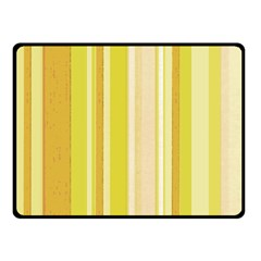 Stripes In Yellow Fleece Blanket (small)