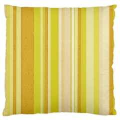 Stripes In Yellow Large Flano Cushion Case (one Side)
