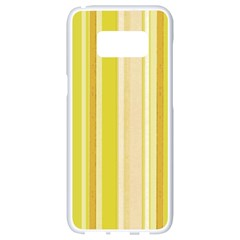 Stripes In Yellow Samsung Galaxy S8 White Seamless Case