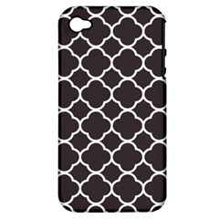 Vintage Tile Black  Apple Iphone 4/4s Hardshell Case (pc+silicone) by TimelessDesigns