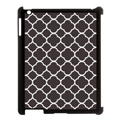 Vintage Tile Black  Apple Ipad 3/4 Case (black)