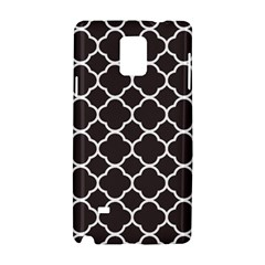 Vintage Tile Black  Samsung Galaxy Note 4 Hardshell Case