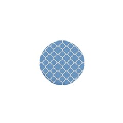 Vintage Tile Blue  1  Mini Buttons