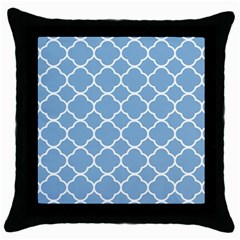 Vintage Tile Blue  Throw Pillow Case (black) by TimelessDesigns