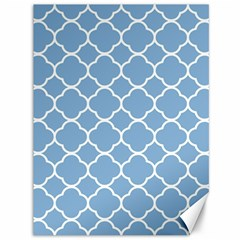Vintage Tile Blue  Canvas 36  X 48  by TimelessDesigns