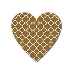 Vintage Tile Brown  Heart Magnet by TimelessDesigns