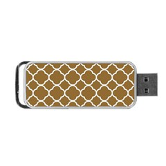 Vintage Tile Brown  Portable Usb Flash (one Side) by TimelessDesigns