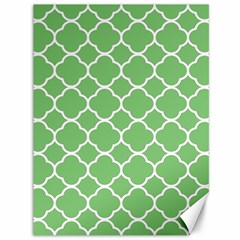 Vintage Tile Green  Canvas 36  X 48  by TimelessDesigns