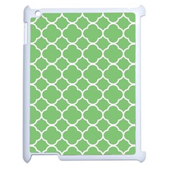 Vintage Tile Green  Apple Ipad 2 Case (white) by TimelessDesigns