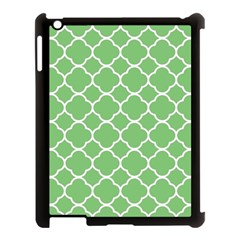 Vintage Tile Green  Apple Ipad 3/4 Case (black) by TimelessDesigns