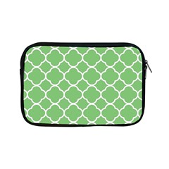 Vintage Tile Green  Apple Ipad Mini Zipper Cases by TimelessDesigns