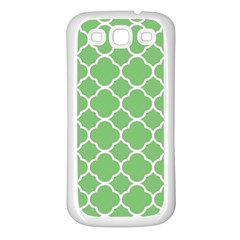 Vintage Tile Green  Samsung Galaxy S3 Back Case (white) by TimelessFashion