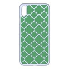 Vintage Tile Green  Apple Iphone Xs Max Seamless Case (white) by TimelessFashion