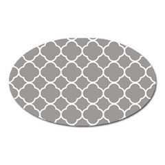 Vintage Tile Grey  Oval Magnet