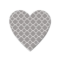 Vintage Tile Grey  Heart Magnet by TimelessFashion