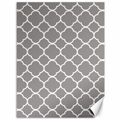 Vintage Tile Grey  Canvas 36  X 48  by TimelessDesigns