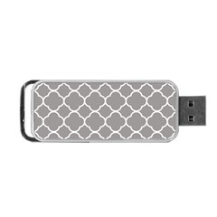 Vintage Tile Grey  Portable Usb Flash (one Side) by TimelessDesigns