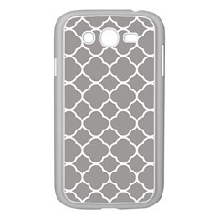 Vintage Tile Grey  Samsung Galaxy Grand Duos I9082 Case (white)