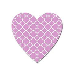 Vintage Tile Pink  Heart Magnet by TimelessDesigns