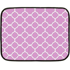 Vintage Tile Pink  Double Sided Fleece Blanket (mini)  by TimelessDesigns