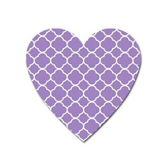 Vintage Tile Purple  Heart Magnet by TimelessDesigns