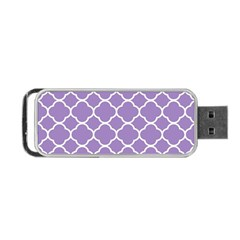 Vintage Tile Purple  Portable Usb Flash (one Side) by TimelessDesigns