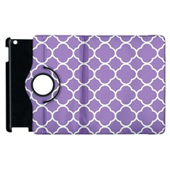 Vintage Tile Purple  Apple Ipad 2 Flip 360 Case