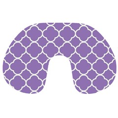 Vintage Tile Purple  Travel Neck Pillows by FEMCreations