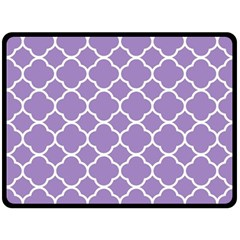 Vintage Tile Purple  Double Sided Fleece Blanket (large)  by TimelessDesigns