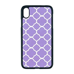 Vintage Tile Purple  Apple Iphone Xr Seamless Case (black) by TimelessDesigns
