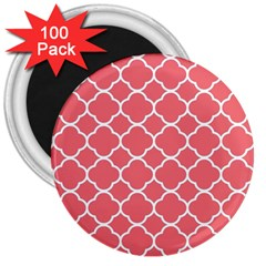 Vintage Tile Red  3  Magnets (100 Pack) by TimelessDesigns