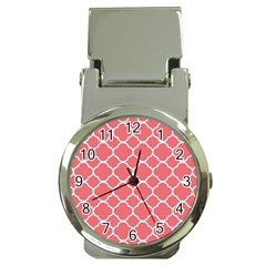 Vintage Tile Red  Money Clip Watches