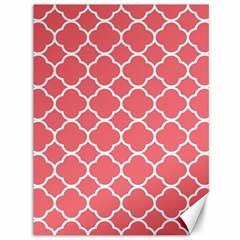 Vintage Tile Red  Canvas 36  X 48  by TimelessDesigns
