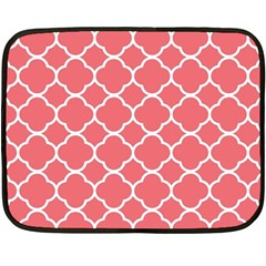 Vintage Tile Red  Double Sided Fleece Blanket (mini)