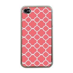 Vintage Tile Red  Apple Iphone 4 Case (clear) by TimelessDesigns