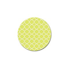 Vintage Tile Yellow  Golf Ball Marker (4 Pack)