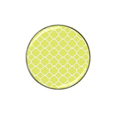 Vintage Tile Yellow  Hat Clip Ball Marker (4 Pack) by TimelessDesigns