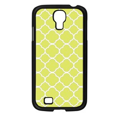 Vintage Tile Yellow  Samsung Galaxy S4 I9500/ I9505 Case (black)