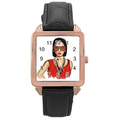 Pretty Woman Rose Gold Leather Watch