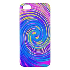Cool Abstract Pink Blue And Yellow Twirl Liquid Art Apple Iphone 5 Premium Hardshell Case