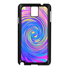 Cool Abstract Pink Blue And Yellow Twirl Liquid Art Samsung Galaxy Note 3 N9005 Case (black) by myrubiogarden