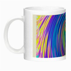 Cool Abstract Pink Blue And Yellow Twirl Liquid Art Night Luminous Mugs by myrubiogarden