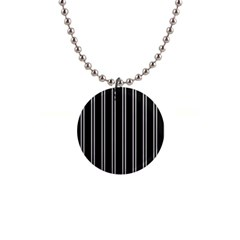 Nice Stripes Black 1  Button Necklace by TimelessFashion