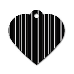 Nice Stripes Black Dog Tag Heart (two Sides)