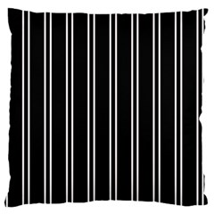 Nice Stripes Black Large Cushion Case (one Side) by TimelessFashion