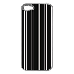 Nice Stripes Black Apple Iphone 5 Case (silver) by TimelessFashion