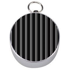 Nice Stripes Black Silver Compasses