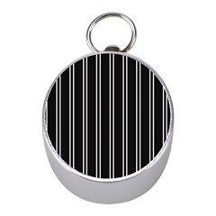 Nice Stripes Black Mini Silver Compasses by FEMCreations
