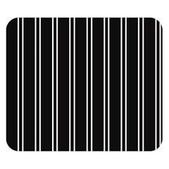 Nice Stripes Black Double Sided Flano Blanket (small)  by TimelessDesigns